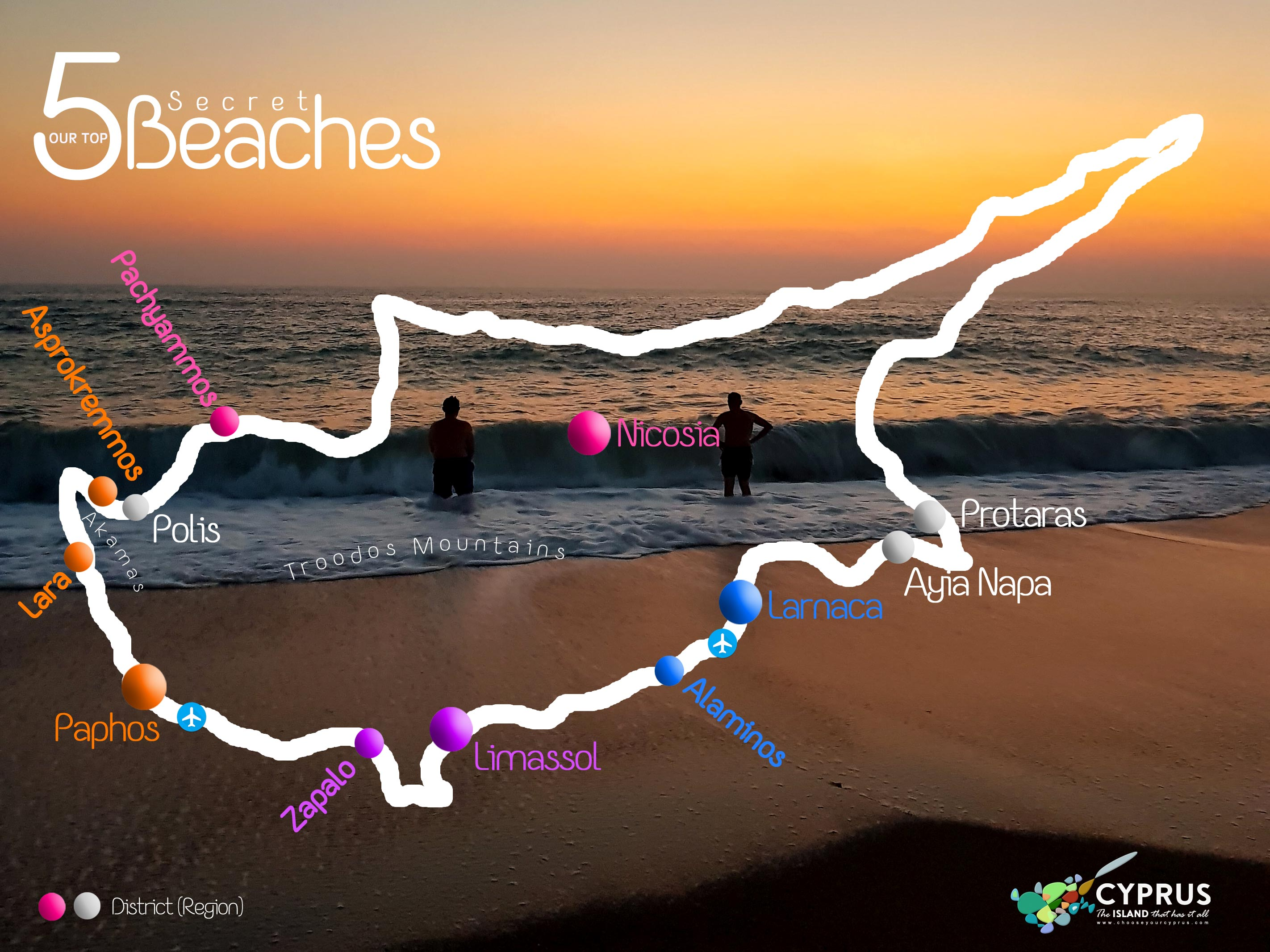 Our 5 Top Secret Beaches MAP