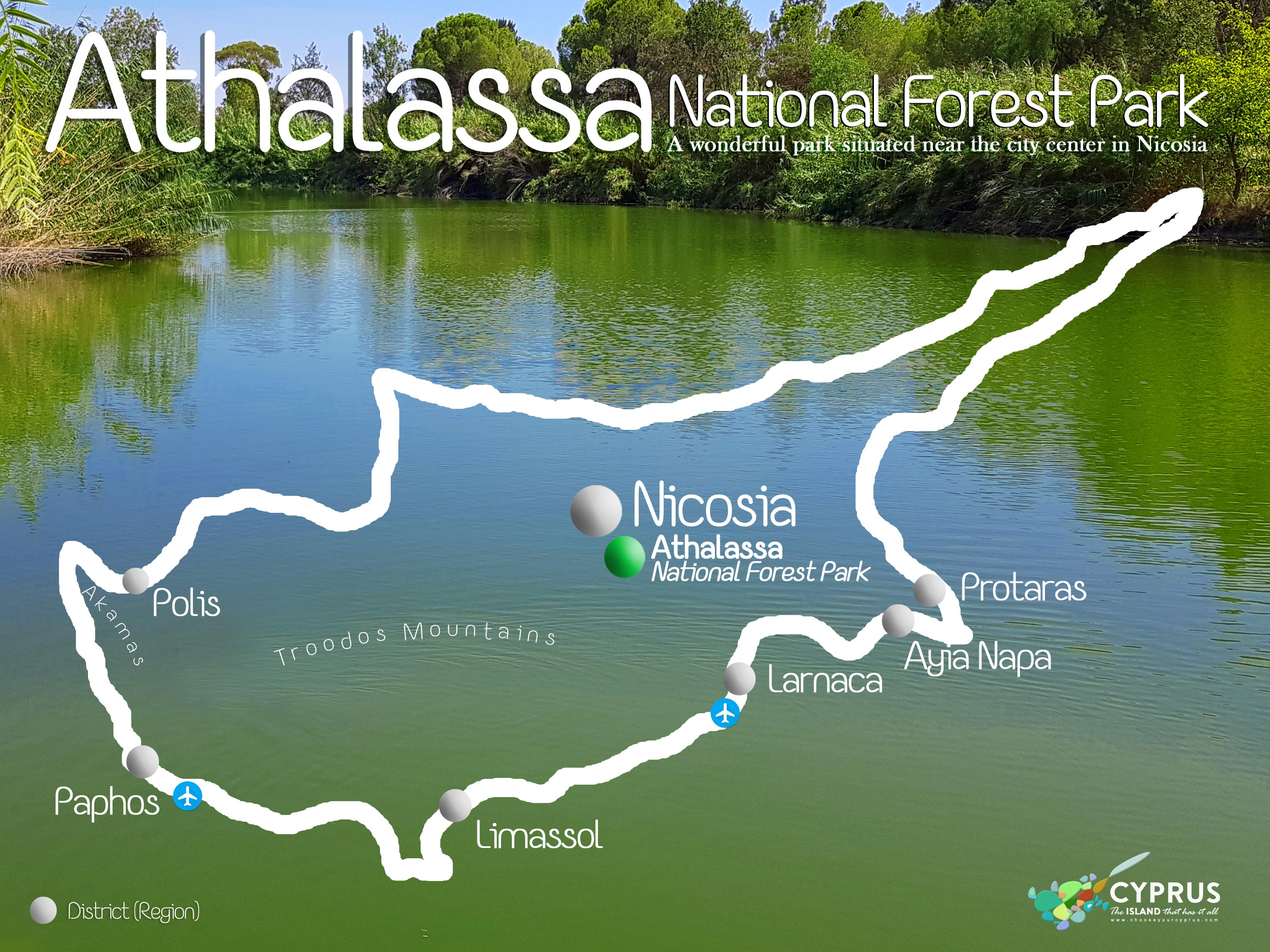 Athalassa National Forest Park MAP