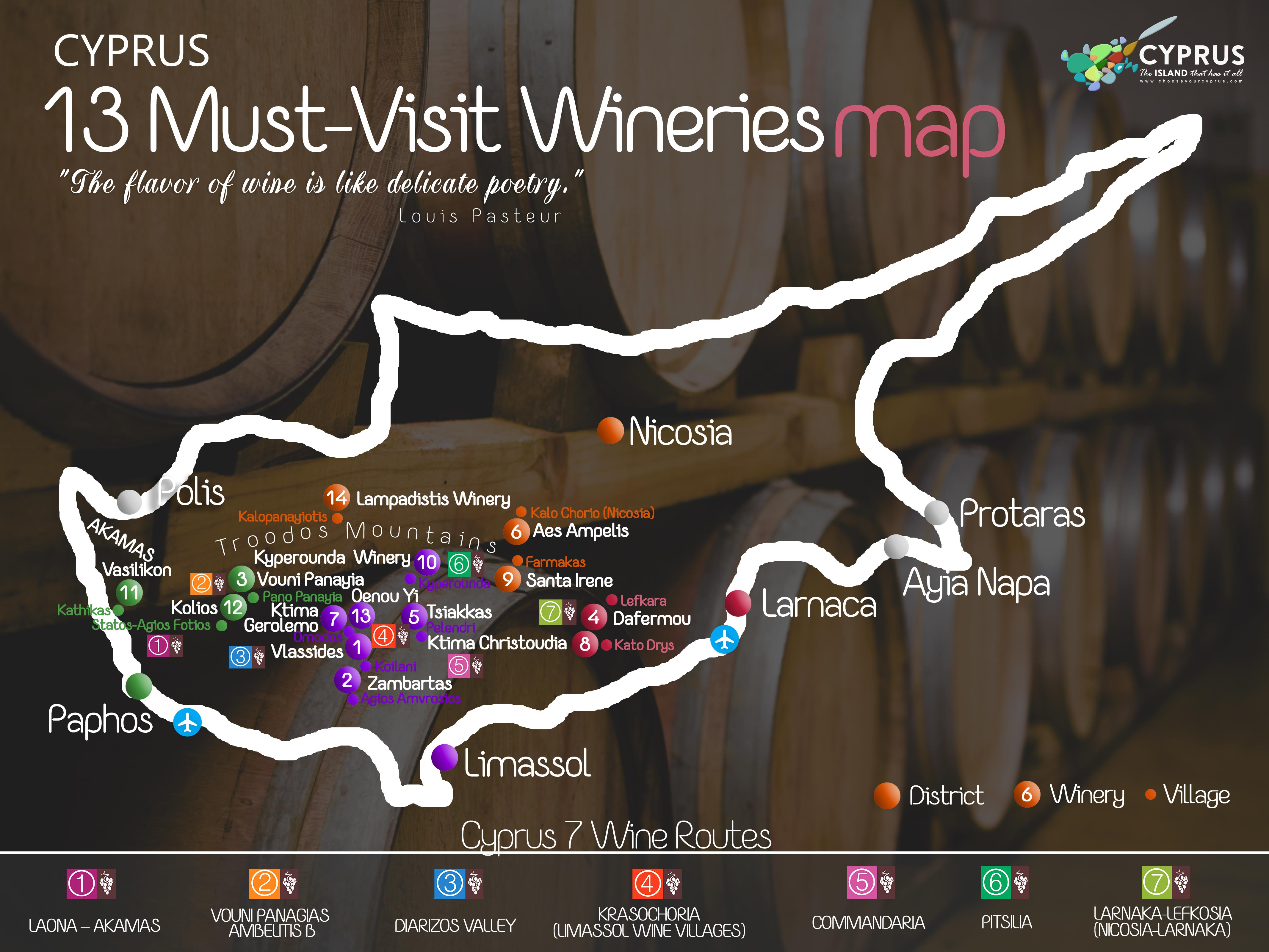 12 Must-Visit Wineries MAP