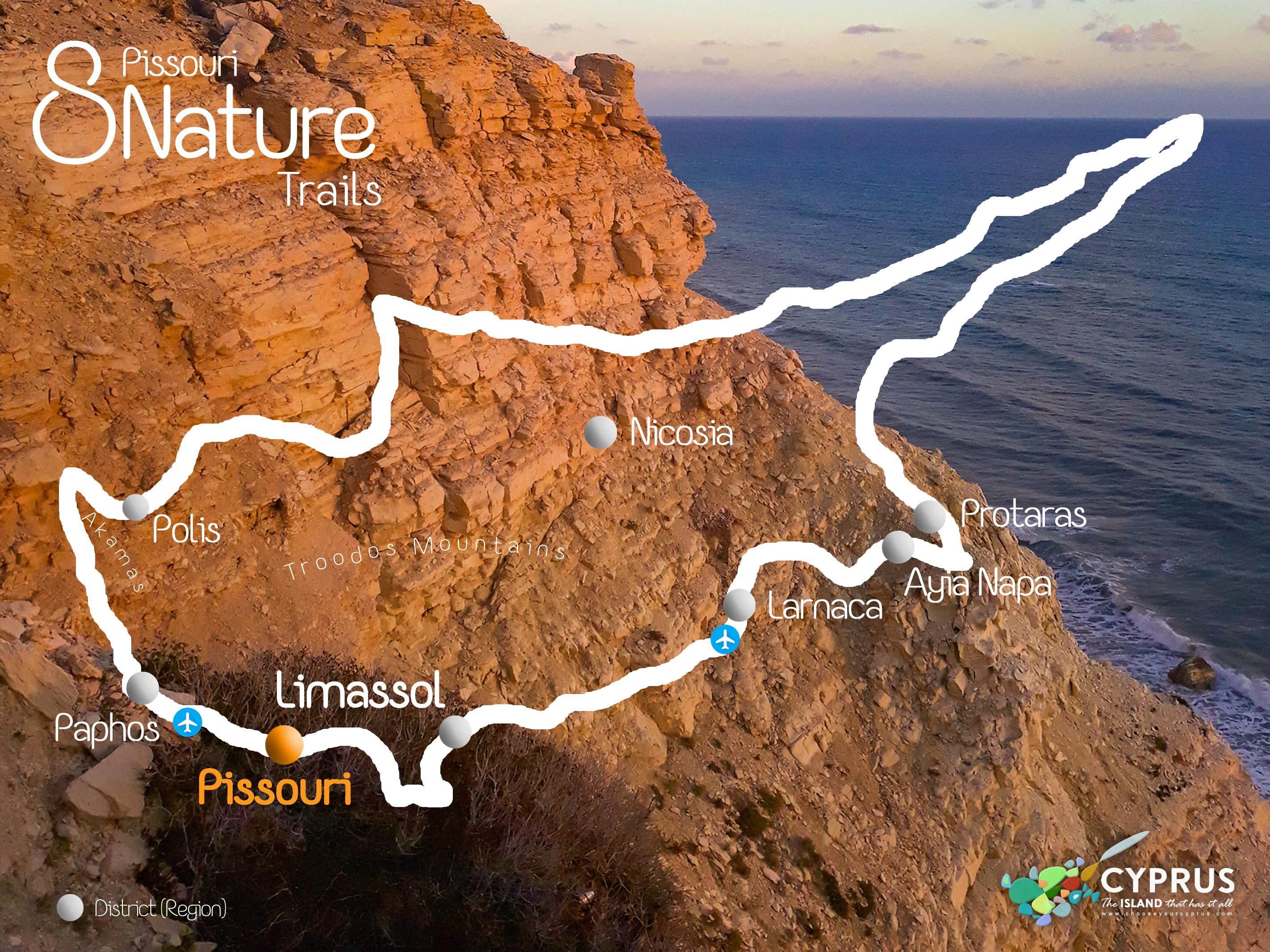 Pissouri Trails Map