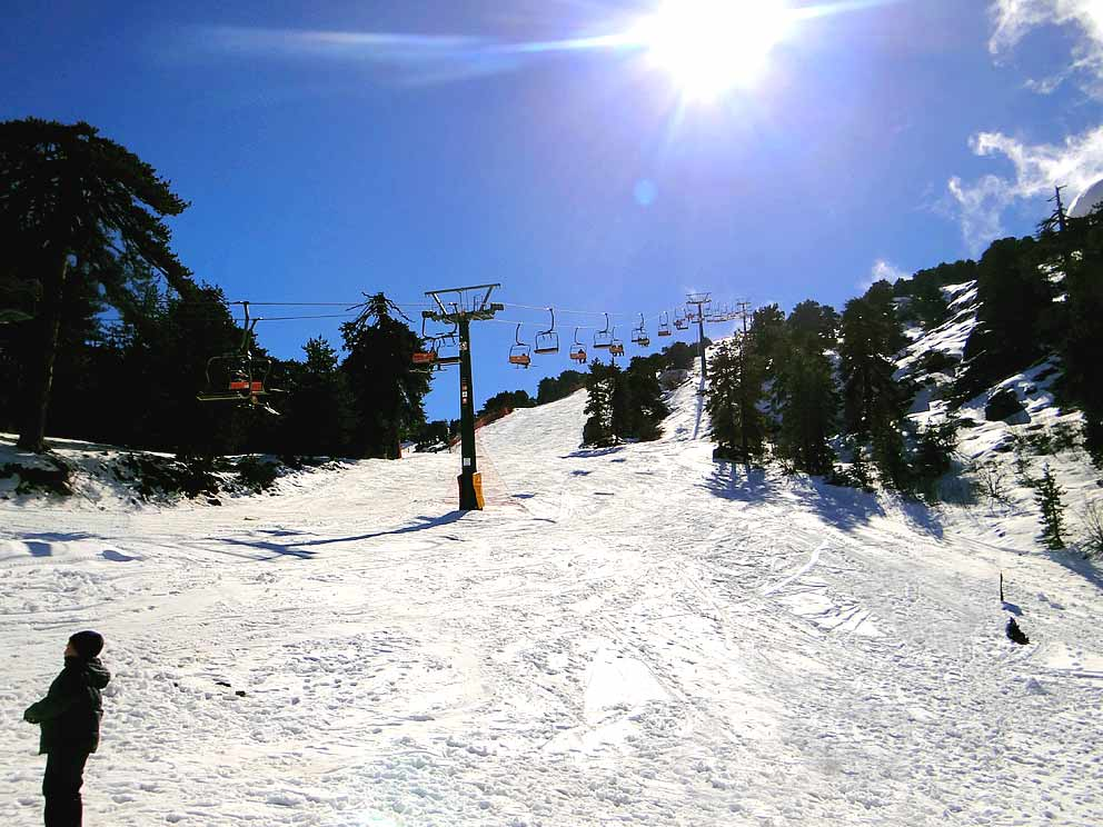 Skiing in Mount Olympus (Troodos)